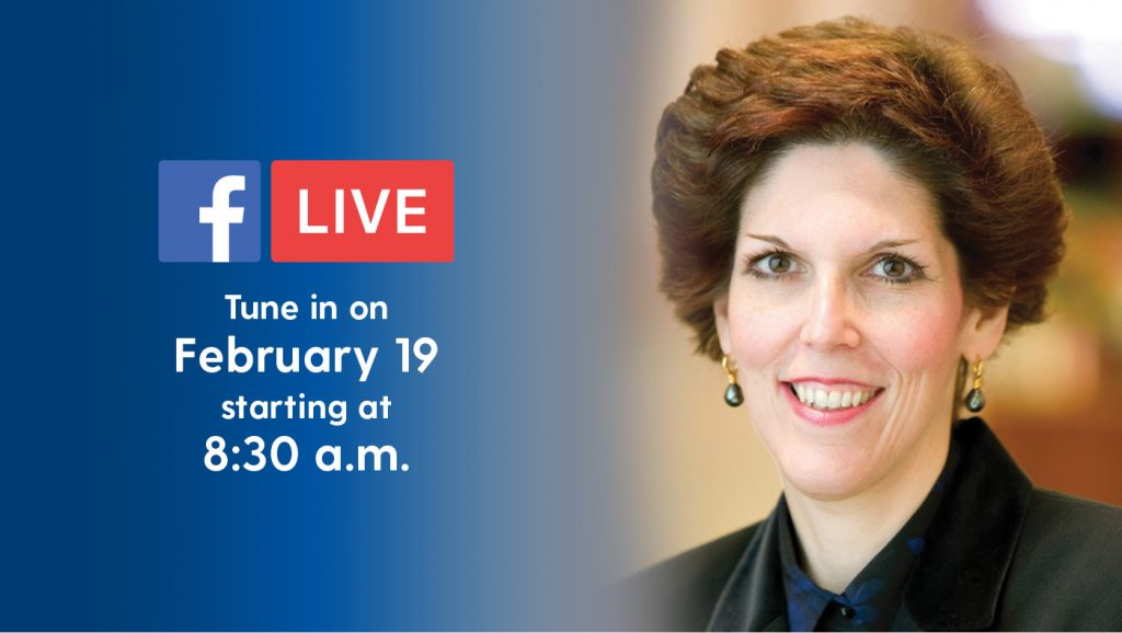Loretta Mester will be the keynote speaker at the 2019 Economic Forecast.