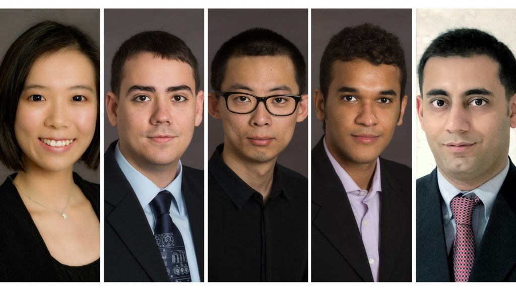 (From left to right) Xin (Jane) Ji, Sean Kilgallon, Deshen Wang, Leonardo De La Rosa Angarita and Arash Riasi
