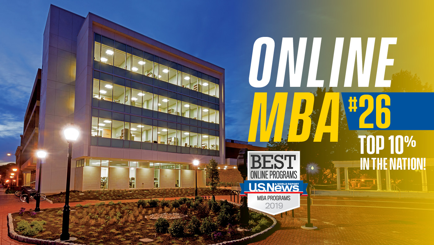 UD Online MBA Program Ranked #26 by U.S. News & World Report