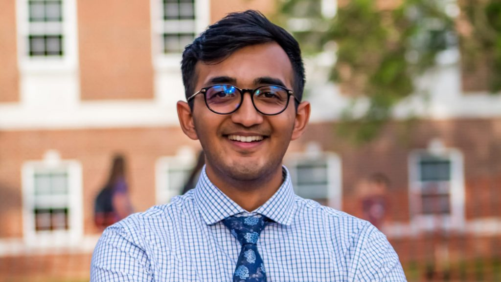 This year, Devarshi Patel will become the first graduate of the University of Delaware's master of science dual degree program in business analytics and information management (BAIM) + cybersecurity.