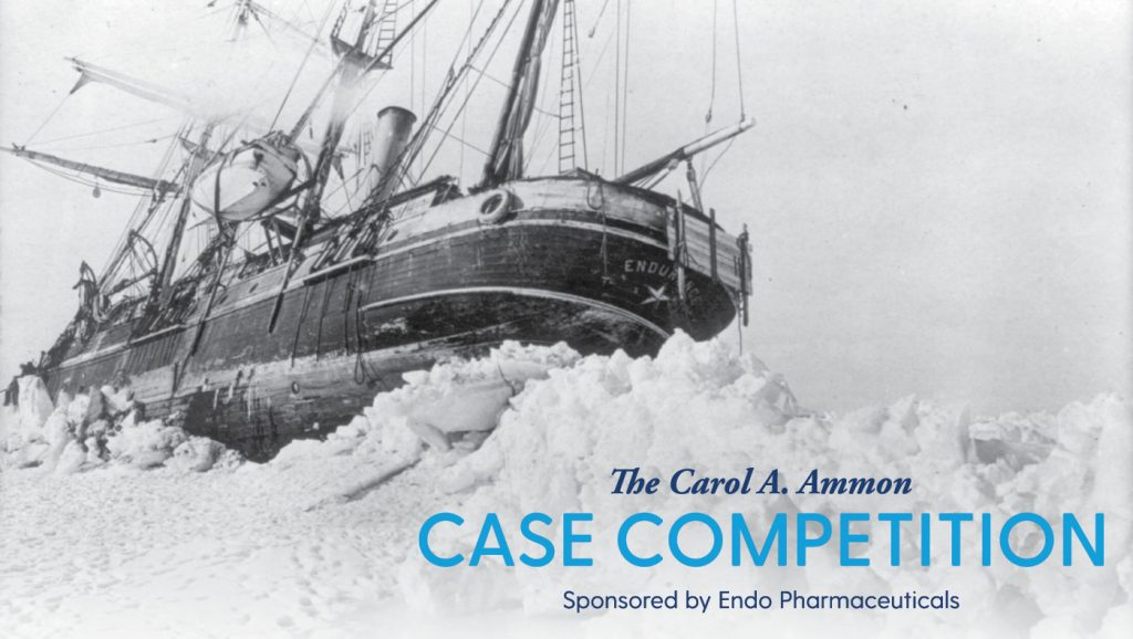This year's Carol A. Ammon Case Competition focused on the 1914 Imperial Expedition of Ernest Shackleton and his crew on the Endurance.