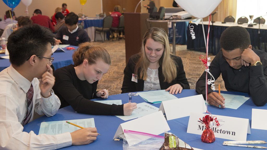 Students from Middletown High School compete in the Delaware Personal Finance Challenge.