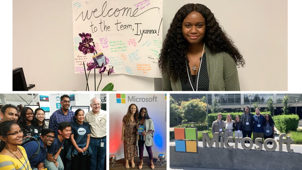 Collage of images from Iyanna McCoy's summer internship