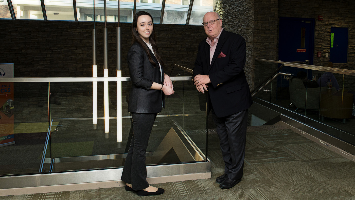 Business executives mentor UD students
