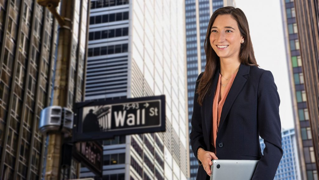 Kerry Schwartz lands a job on Wall Street